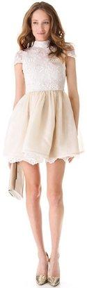 Alice + Olivia Lace Bodice Party Dress