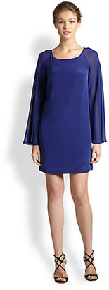 Nicole Miller Bell-Sleeve Shift Dress