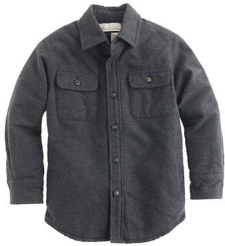 J.Crew Boys' heather quilted chamois workshirt