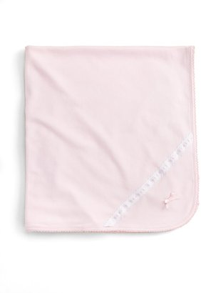 Dot-and-Ribbon Receiving Blanket