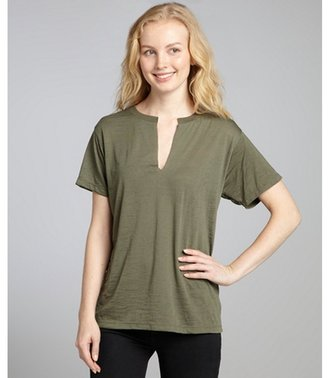 Nation Ltd. army burnout 'Karen' split neck t-shirt