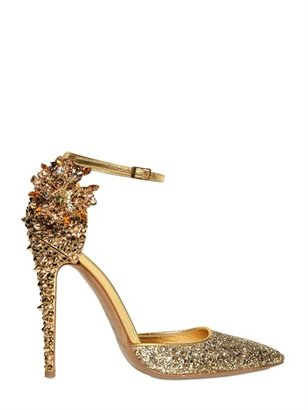 DSquared 110mm Lalique Crystal And Studs Pumps