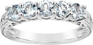 Sterling 5-Stone Round Birthstone Band Ring