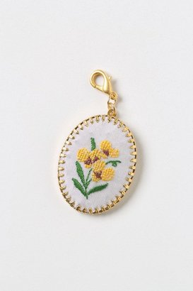 Anthropologie Embroidered Buttercup Collector's Charm