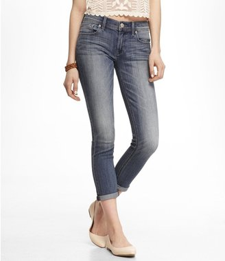 Express Mid Rise Cropped Rolled Jean Legging