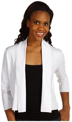 Calvin Klein 3/4 Sleeve Shawl (White) Women's Clothing