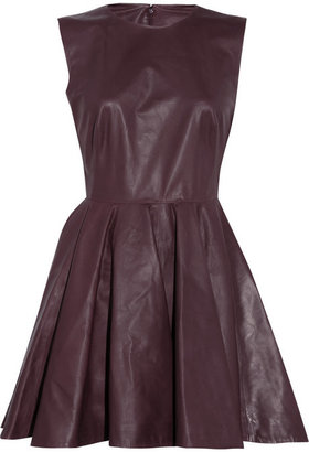 Alexander McQueen Pleated leather dress