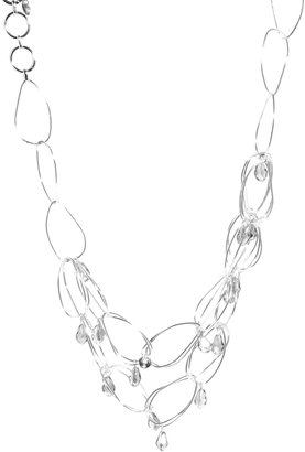 French Connection Irregular Hoop & Bead Drop Collar Necklace