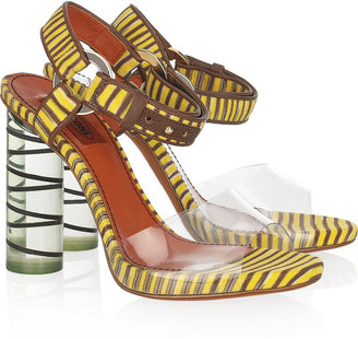 Missoni Knitted and Perspex sandals