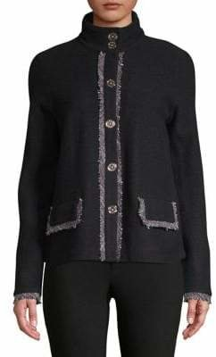 Karl Lagerfeld Paris Funnel Neck Wool Jacket