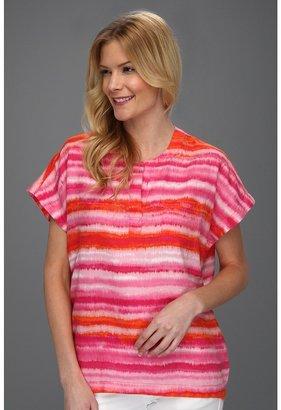 Jones New York Band Collar Dolman Sleeve Shirt (Petunia Multi) - Apparel