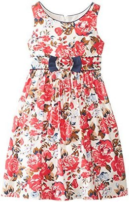 Jayne Copeland Big Girls' Floral Print Tank Dress