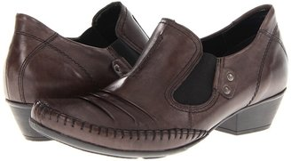 Rieker D7302 Milla 02 (Graphite Leather) - Footwear