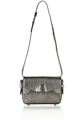 Alexander Wang Tri-Fold Shoulder Bag Inprinted Metallic