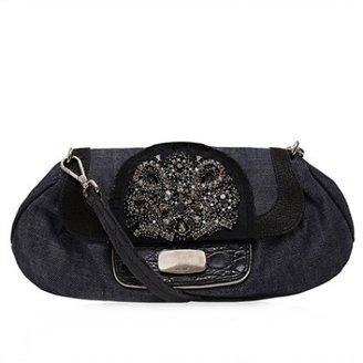 Prada very good (VG Denim Embellished Shoulder Bag