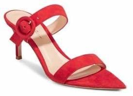 Gianvito Rossi Chamois Leather Stiletto Sandals