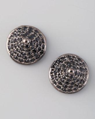 Eddie Borgo Pave Crystal Cone-Stud Earrings, Gunmetal