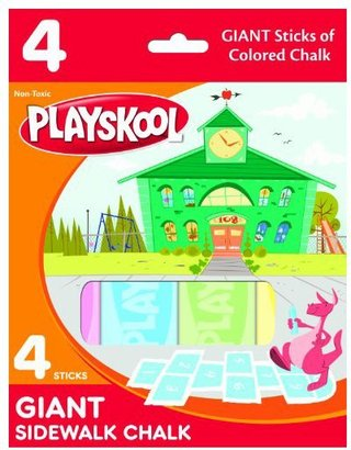 Playskool Giant Sidewalk Chalk 4 Count