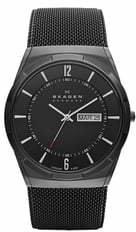 Skagen 'Melbye' Titanium Round Mesh Strap Watch, 40mm