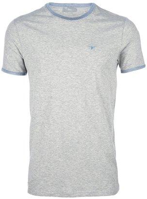 Christian Dior contrast crew neck t-shirt