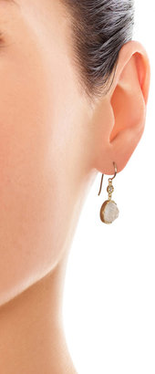 Irene Neuwirth Diamond, moonstone & gold earrings