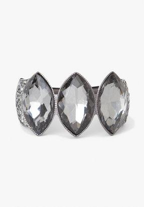 Bebe Three Stone & Crystal Clasp Bracelet