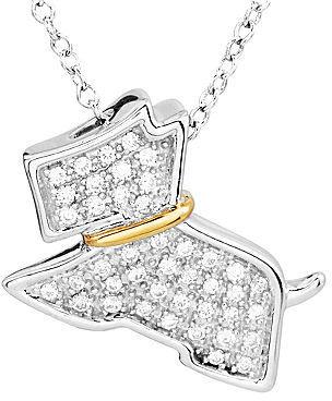 JCPenney FINE JEWELRY ASPCA Tender Voices ¼ CT. T.W. Diamond Scottie Dog Pendant Necklace