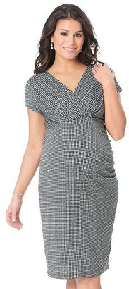 Oh Baby by motherhood houndstooth ruched dress - maternity