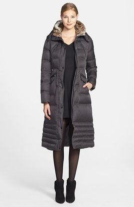 Laundry by Shelli Segal Faux Fur Trim Puffer Coat