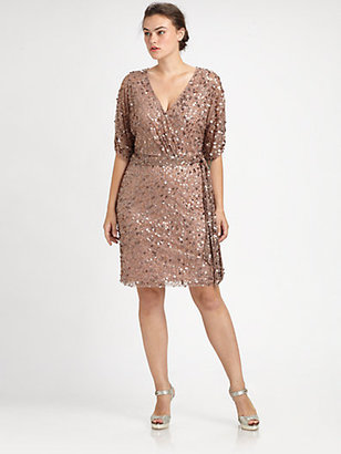 Aidan Mattox Aidan Mattox, Salon Z Sequin Wrap Dress