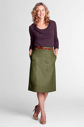 Lands' End Women's Herringbone A-line Skirt