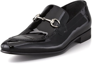 Gucci Patent Horsebit Loafer