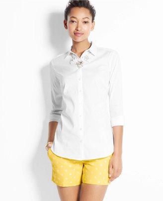 Ann Taylor Perfect Long Sleeve Button Down Shirt