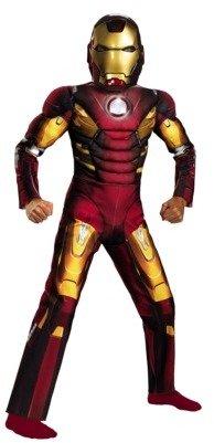 Iron Man Boy's Mark 7 Avengers Muscle Light Up Costume