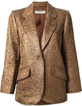 Saint Laurent Pre-Owned brocade blazer