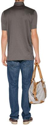 Brioni Fine Cotton Jersey Polo Shirt