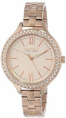 Caravelle New York Women's 44L125 Analog Display Japanese Quartz Rose Gold-Tone Watch $120 thestylecure.com