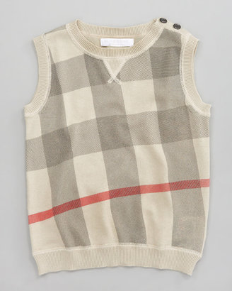 Burberry Printed Check Sweater Vest