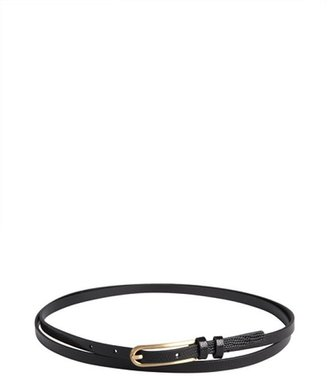 Diane von Furstenberg black lizard embossed 'Sonya' double wrap belt