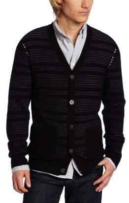 Calvin Klein Jeans Men's Reverse Stripe Cardigan