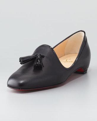 Christian Louboutin Lady Moc Leather Tassel Loafer, Black