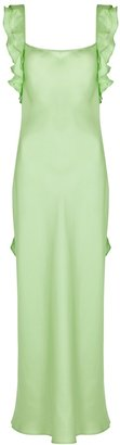 Maggie Marilyn Cover Girl Mint Silk Dress