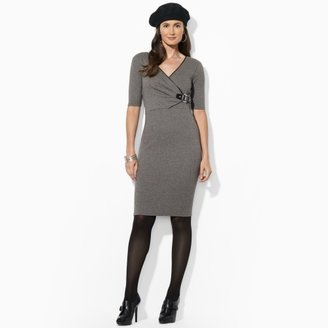 Ralph Lauren Herringbone Buckled Dress