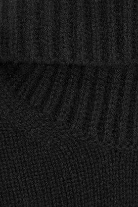 Alexander McQueen Yak and wool-blend open-back turtleneck sweater