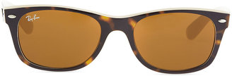 Ray-Ban New Wayfarer Sunglasses, Tortoise/Beige