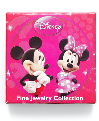 Disney Sterling Silver Ring, Mickey Mouse Cubic Zirconia Ring (1/3 ct. t.w.)