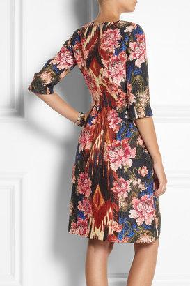 Oscar de la Renta Silk-blend jacquard dress