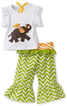 Mud Pie Baby-Girls Safari Elephant Yoga Pant Set