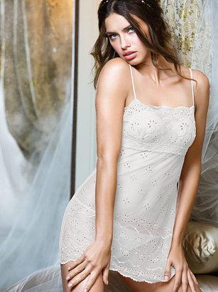 Victoria's Secret Dream Angels Embroidered Eyelet Babydoll