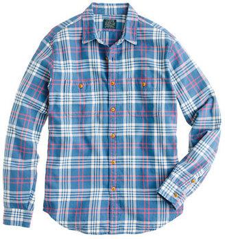 J.Crew Flannel shirt in academic blue plaid